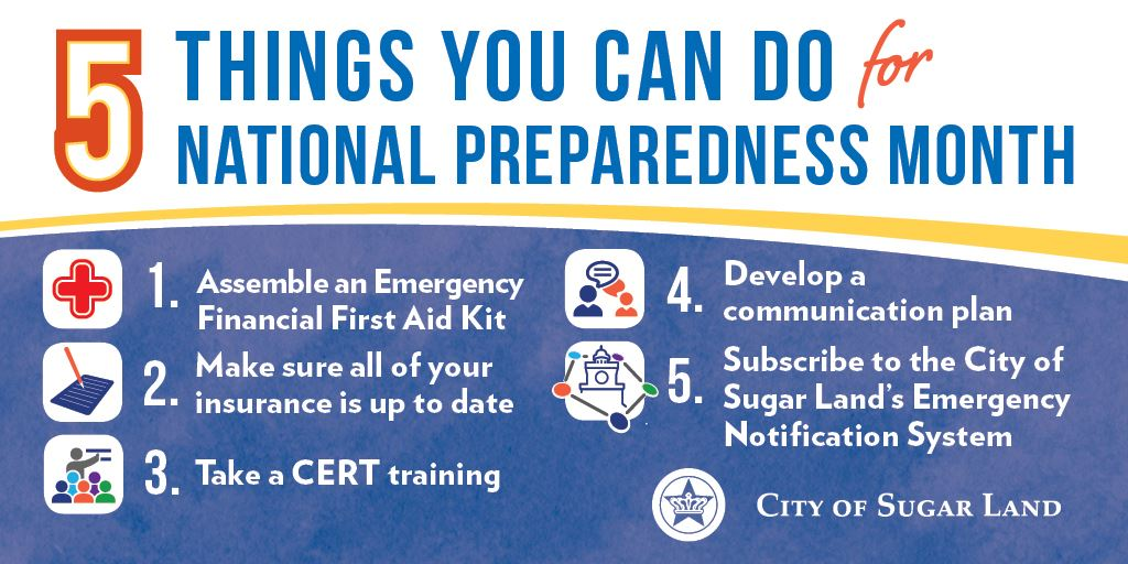 5 Things To Do for National Preparedness Month