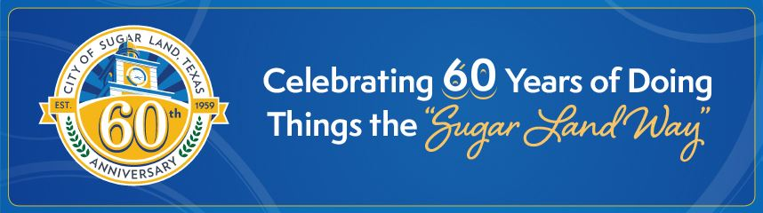 Image of main banner for Sugar Land's 60th anniversary website