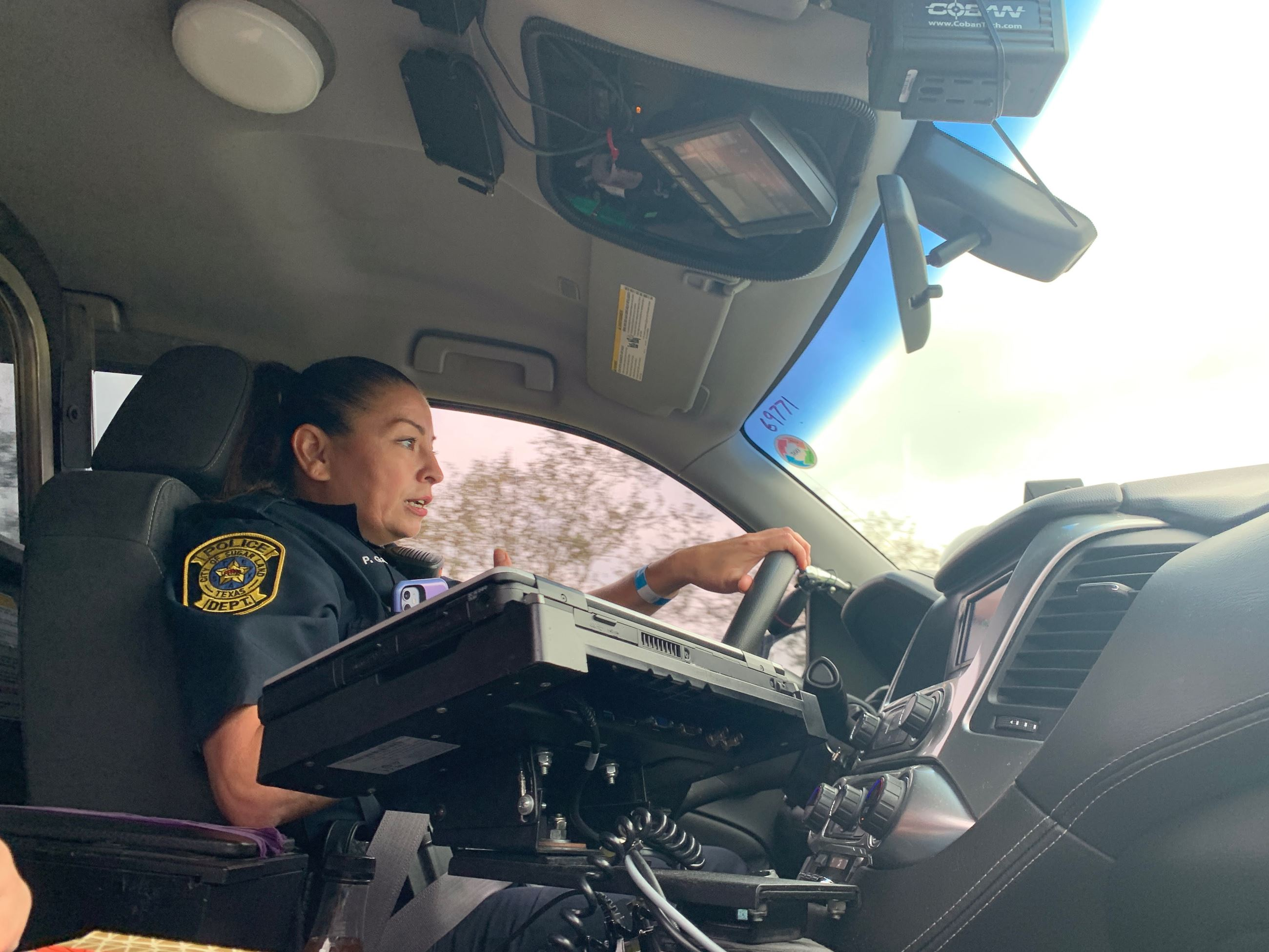 Officer Priscilla Garcia during an Oct. 2020 ride along.