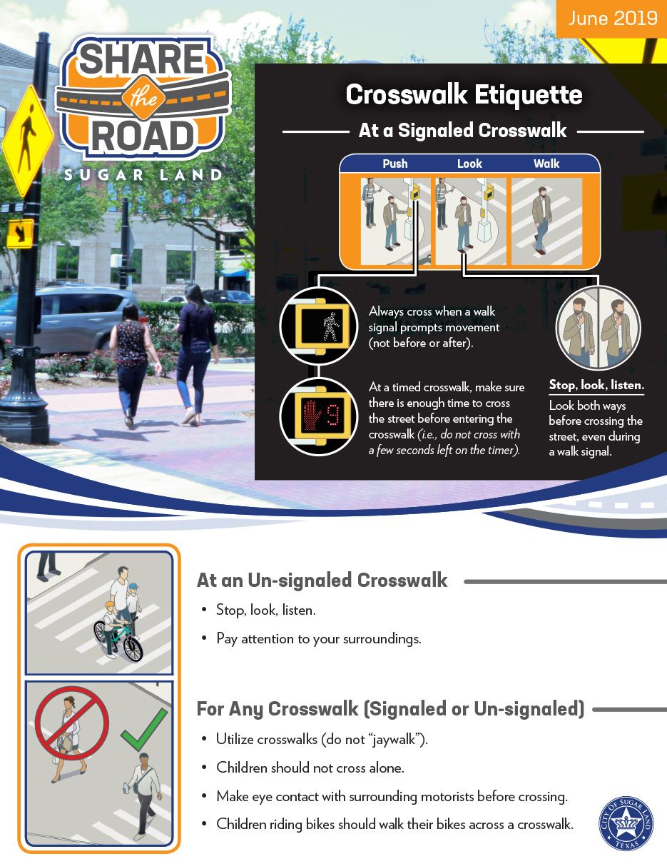 Share the Road - Crosswalk